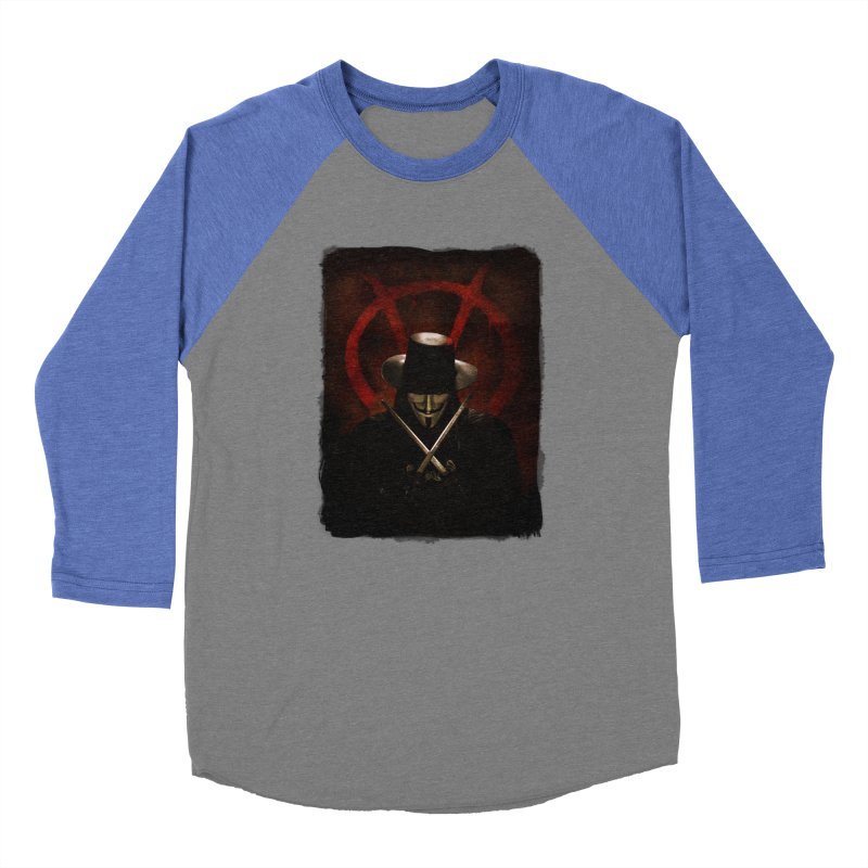 remember, remember, the fifth of november Women's Baseball Triblend Longsleeve T-Shirt by the twisted world of godriguezart