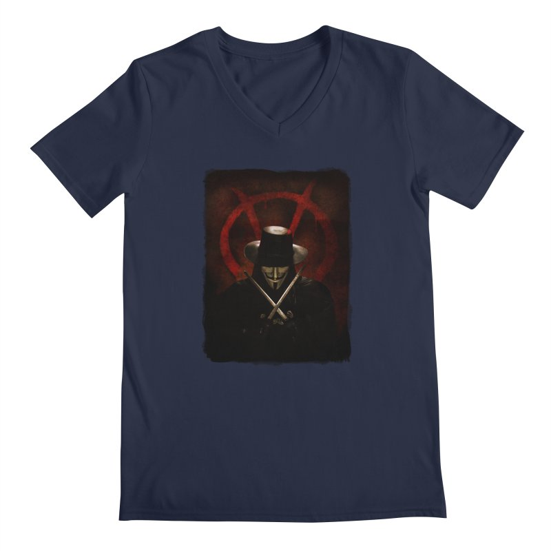 remember, remember, the fifth of november Men's Regular V-Neck by the twisted world of godriguezart