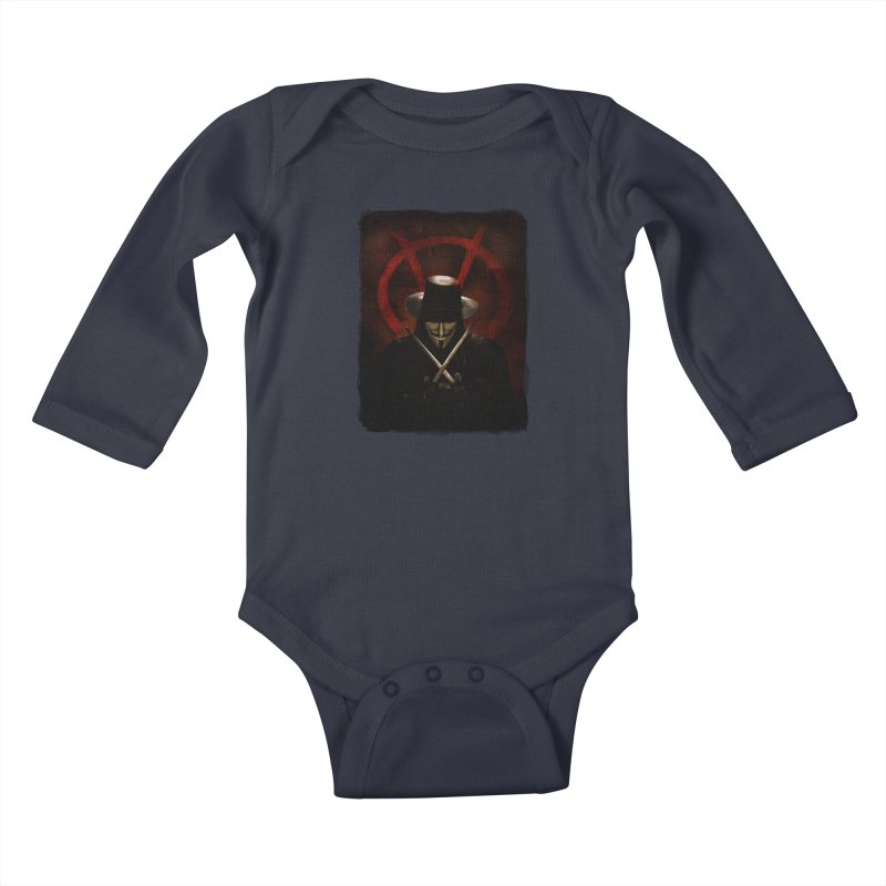 remember, remember, the fifth of november Kids Baby Longsleeve Bodysuit by the twisted world of godriguezart