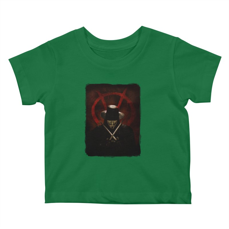 remember, remember, the fifth of november Kids Baby T-Shirt by the twisted world of godriguezart