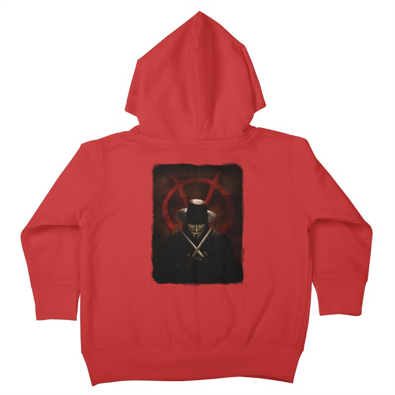 remember, remember, the fifth of november Kids Toddler Zip-Up Hoody by the twisted world of godriguezart
