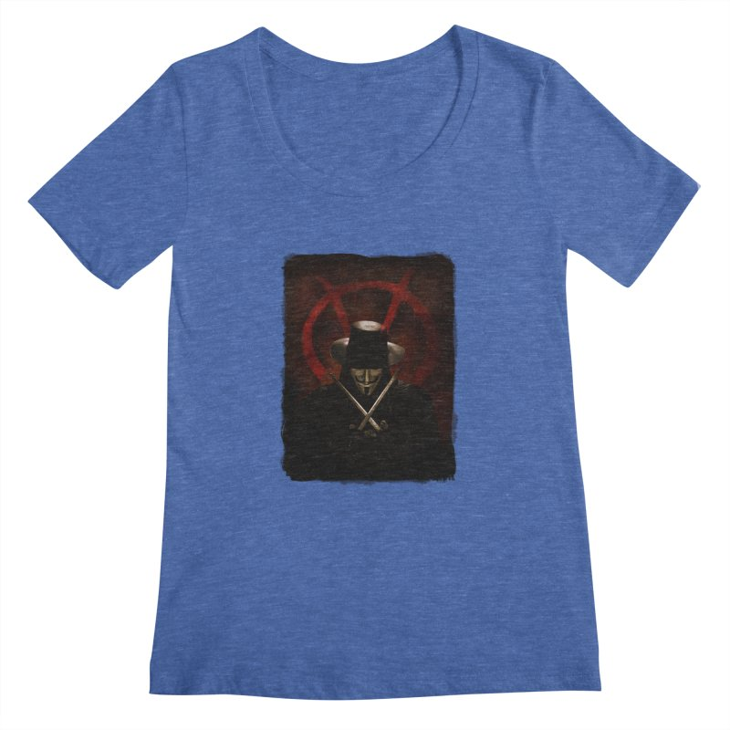 remember, remember, the fifth of november Women's Regular Scoop Neck by the twisted world of godriguezart