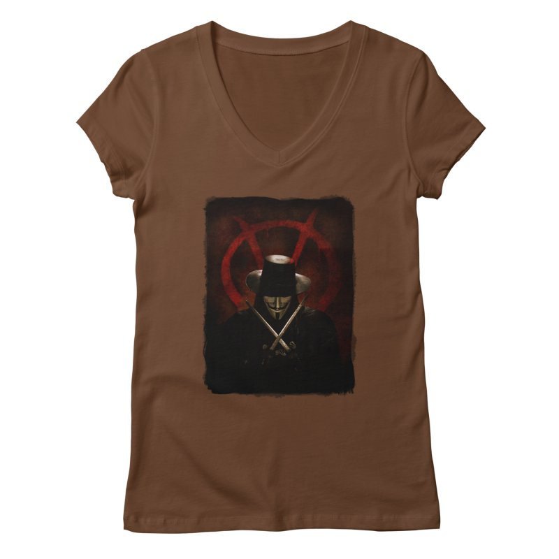 remember, remember, the fifth of november Women's Regular V-Neck by the twisted world of godriguezart