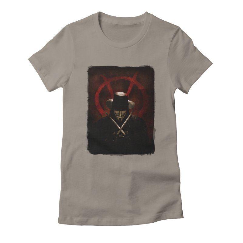 remember, remember, the fifth of november Women's Fitted T-Shirt by the twisted world of godriguezart