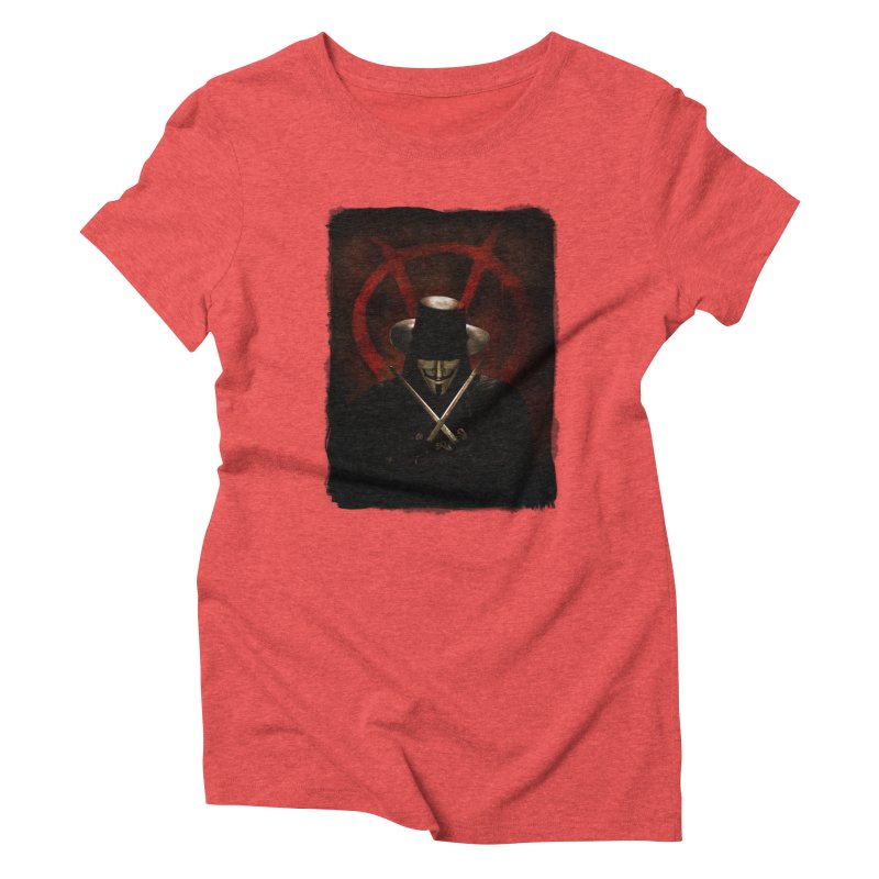 remember, remember, the fifth of november Women's Triblend T-Shirt by the twisted world of godriguezart