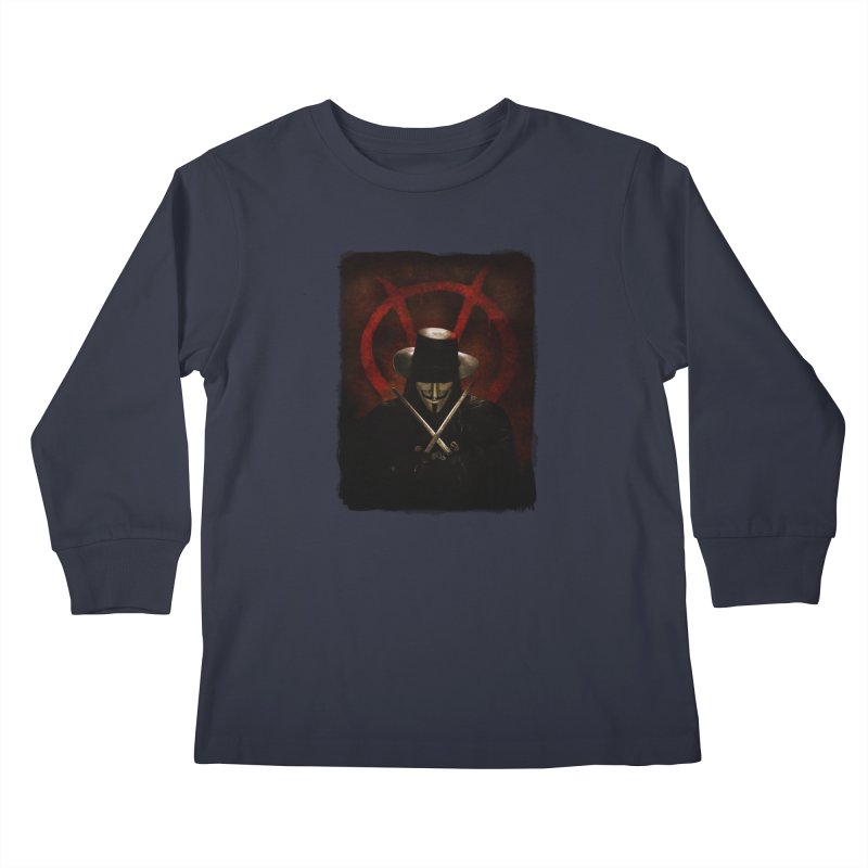 remember, remember, the fifth of november Kids Longsleeve T-Shirt by the twisted world of godriguezart