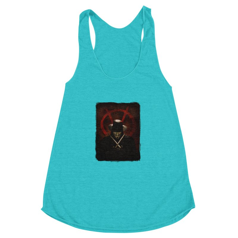 remember, remember, the fifth of november Women's Racerback Triblend Tank by the twisted world of godriguezart