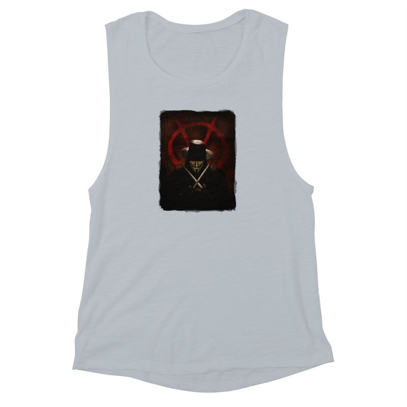 remember, remember, the fifth of november Women's Muscle Tank by the twisted world of godriguezart