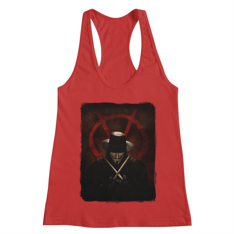 remember, remember, the fifth of november Women's Racerback Tank by the twisted world of godriguezart