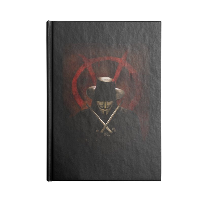 remember, remember, the fifth of november Accessories Blank Journal Notebook by the twisted world of godriguezart