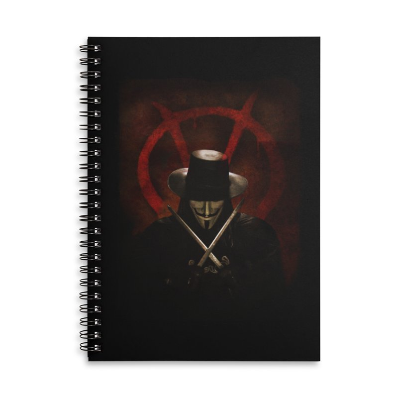 remember, remember, the fifth of november Accessories Lined Spiral Notebook by the twisted world of godriguezart