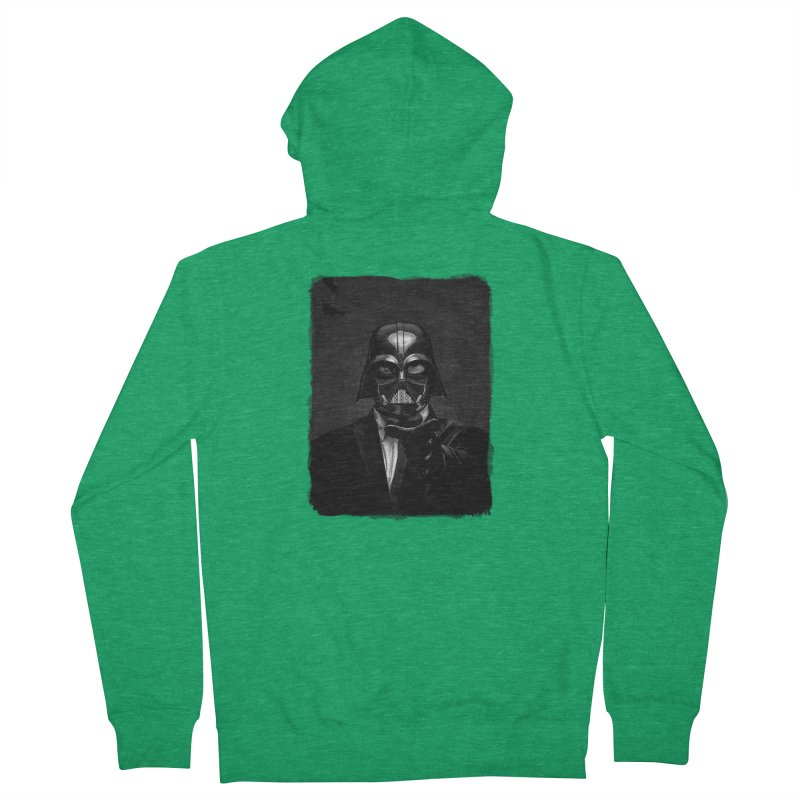 the power of the dark side Men's Zip-Up Hoody by the twisted world of godriguezart