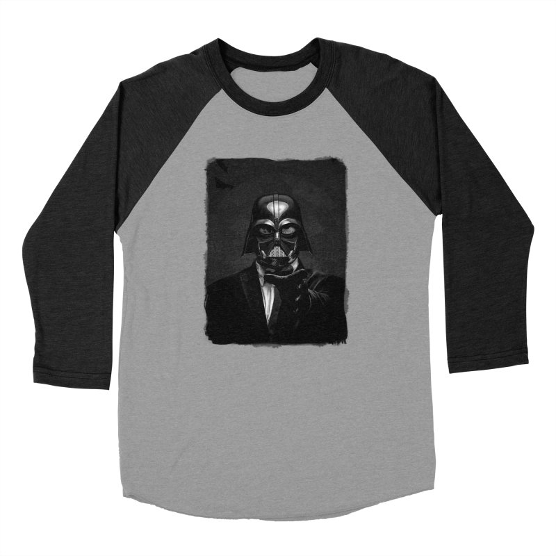 the power of the dark side Men's Baseball Triblend Longsleeve T-Shirt by the twisted world of godriguezart