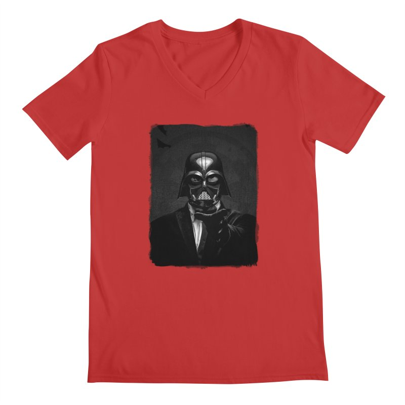 the power of the dark side Men's Regular V-Neck by the twisted world of godriguezart