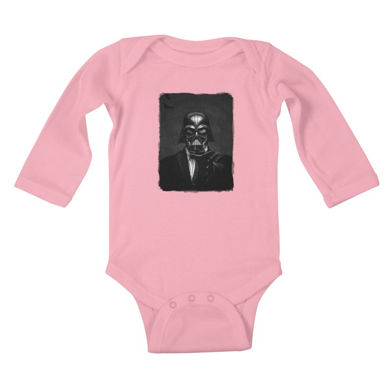 the power of the dark side Kids Baby Longsleeve Bodysuit by the twisted world of godriguezart