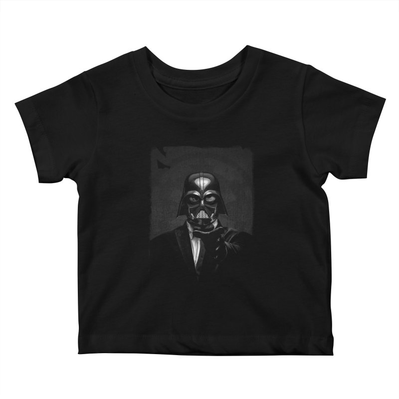 the power of the dark side Kids Baby T-Shirt by the twisted world of godriguezart