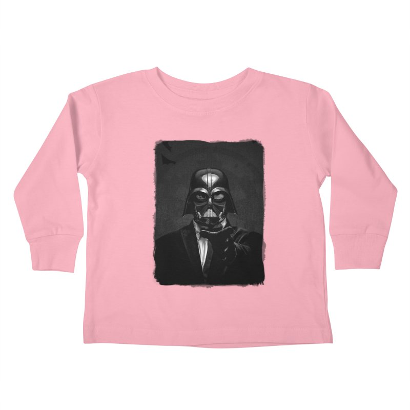 the power of the dark side Kids Toddler Longsleeve T-Shirt by the twisted world of godriguezart