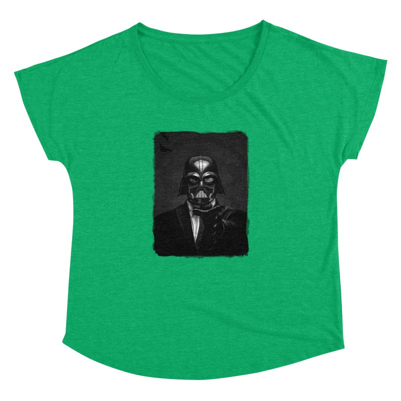 the power of the dark side Women's Dolman Scoop Neck by the twisted world of godriguezart