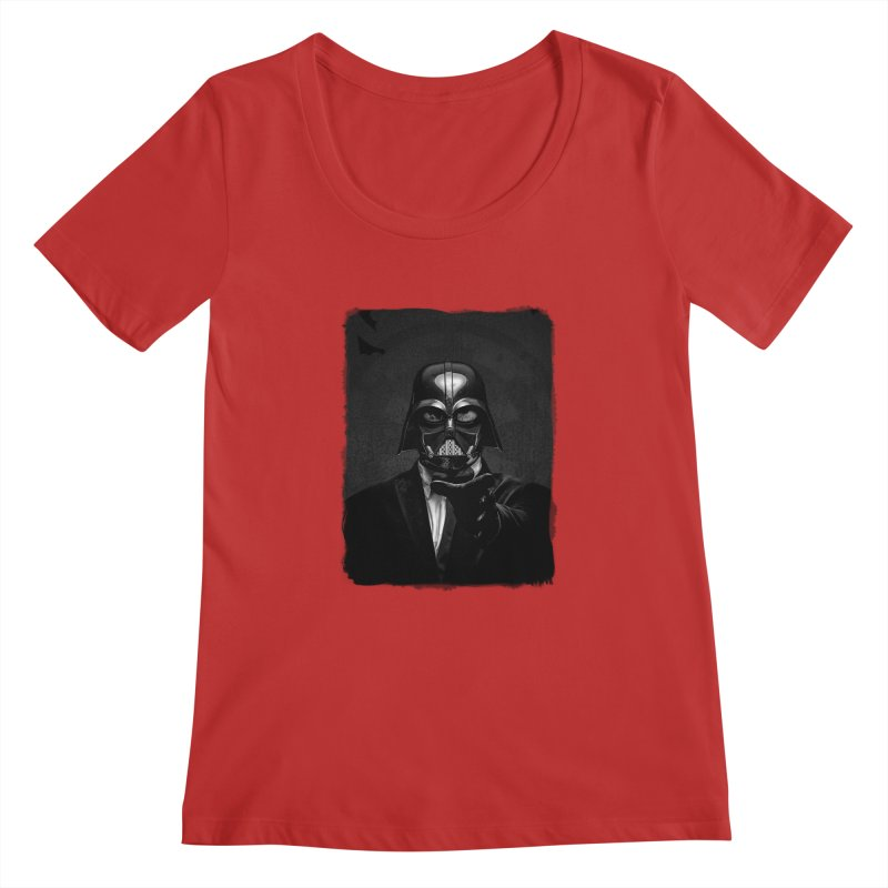 the power of the dark side Women's Regular Scoop Neck by the twisted world of godriguezart