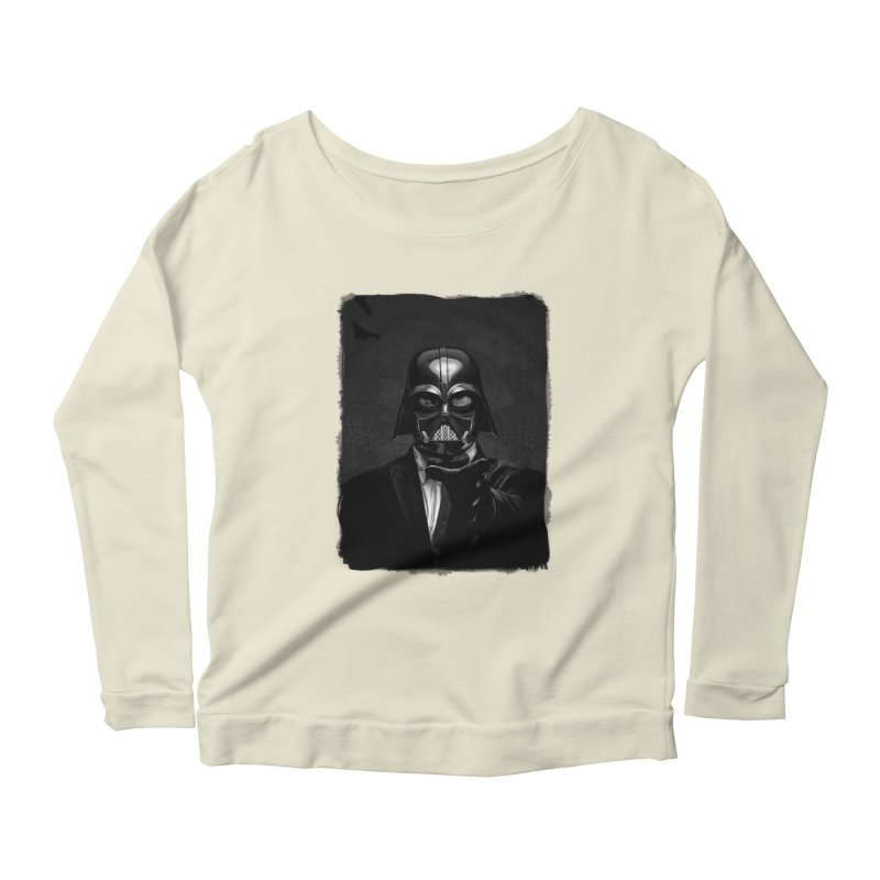 the power of the dark side Women's Scoop Neck Longsleeve T-Shirt by the twisted world of godriguezart