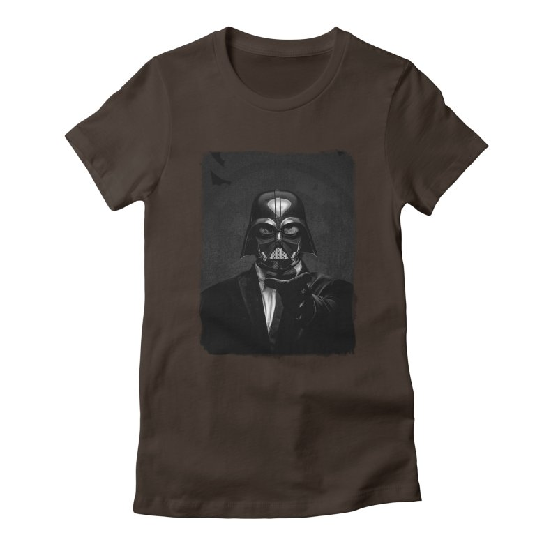 the power of the dark side Women's Fitted T-Shirt by the twisted world of godriguezart