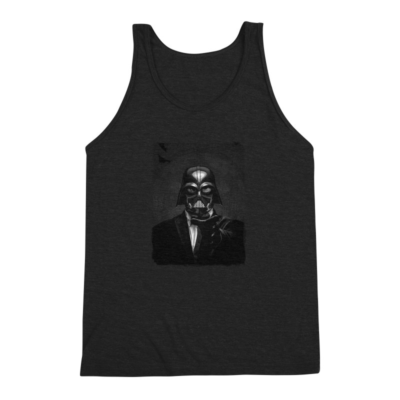 the power of the dark side Men's Triblend Tank by the twisted world of godriguezart
