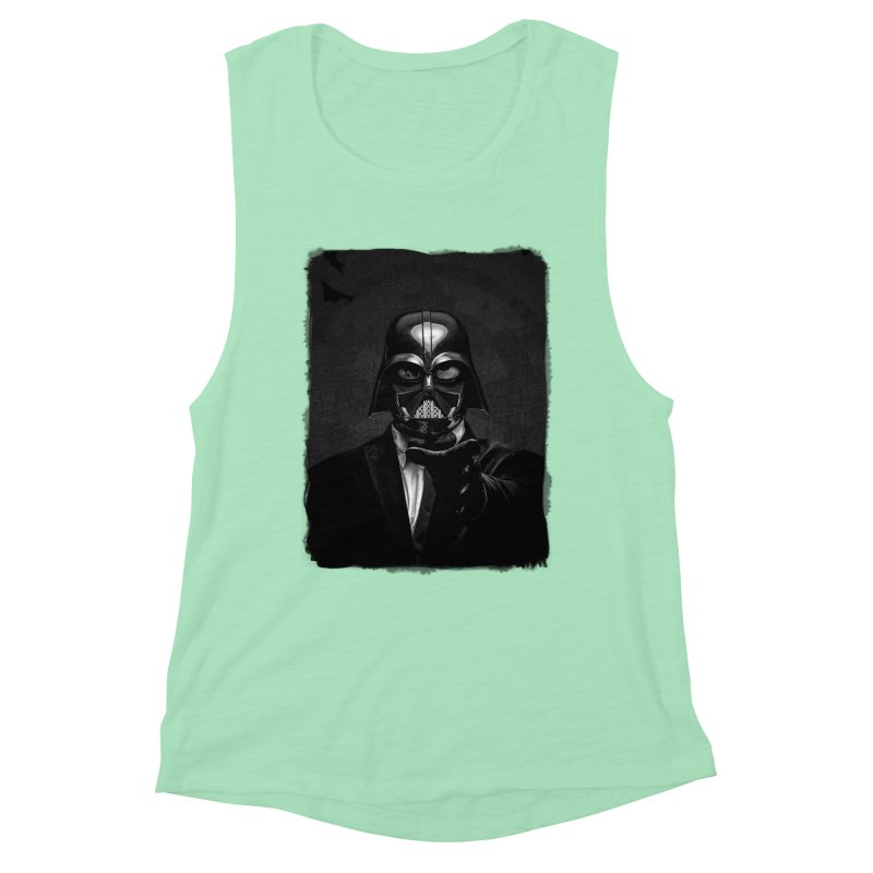 the power of the dark side Women's Muscle Tank by the twisted world of godriguezart