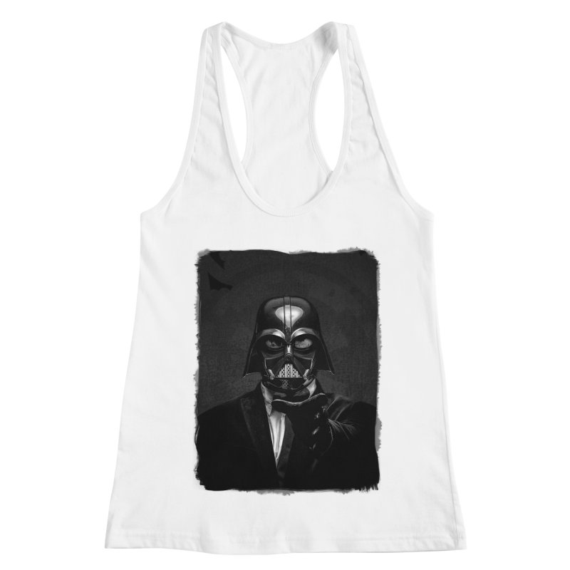 the power of the dark side Women's Racerback Tank by the twisted world of godriguezart