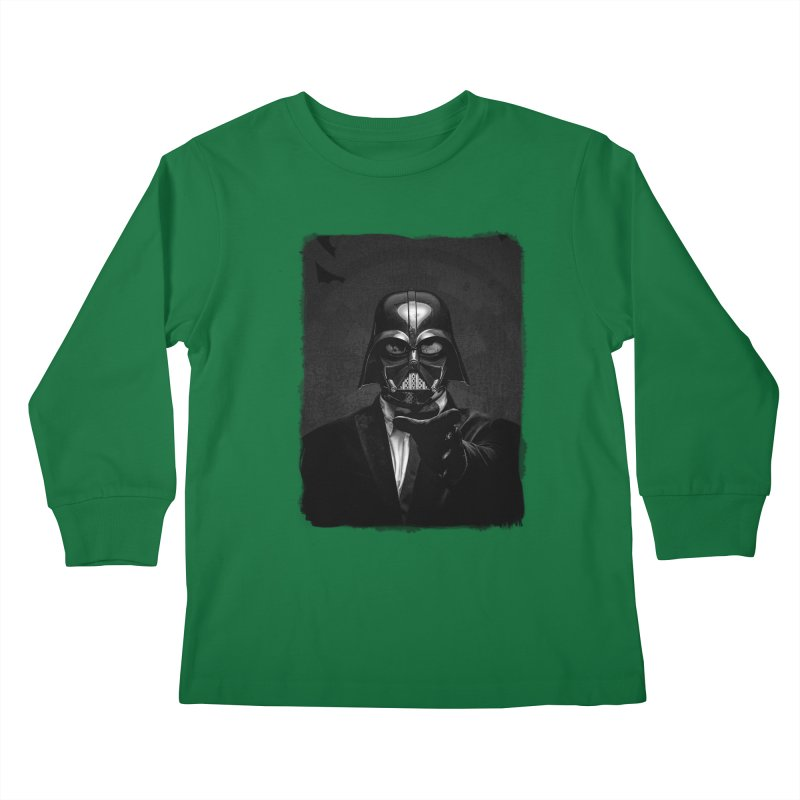 the power of the dark side Kids Longsleeve T-Shirt by the twisted world of godriguezart