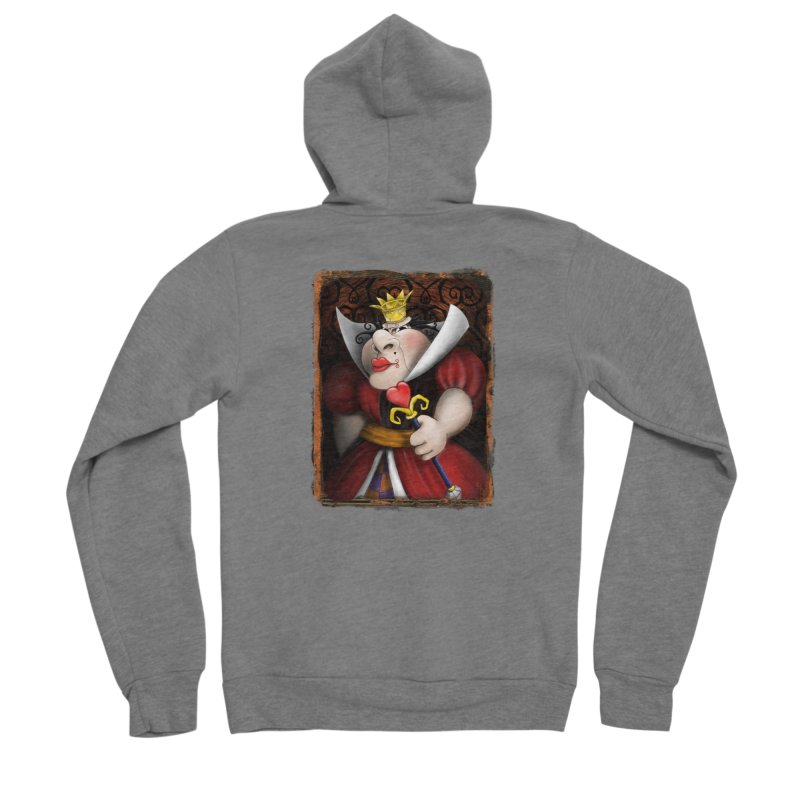 off with their heads! Women's Sponge Fleece Zip-Up Hoody by the twisted world of godriguezart