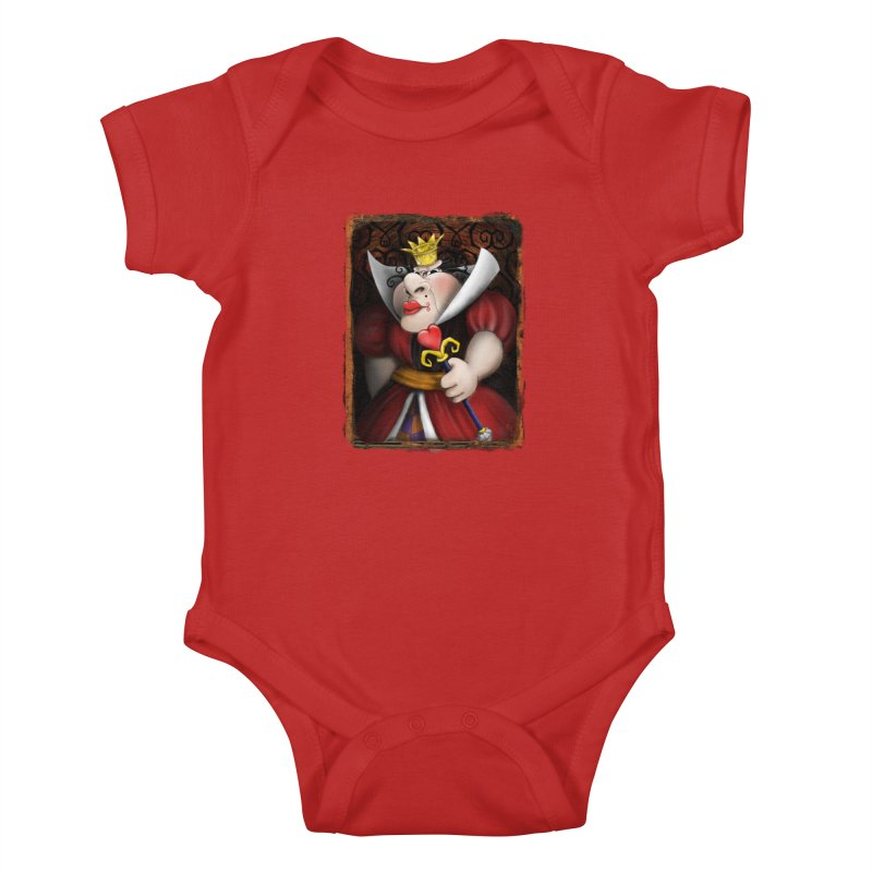 off with their heads! Kids Baby Bodysuit by the twisted world of godriguezart