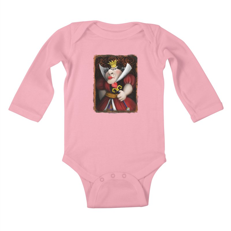 off with their heads! Kids Baby Longsleeve Bodysuit by the twisted world of godriguezart