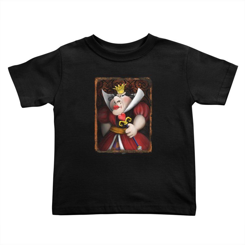 off with their heads! Kids Toddler T-Shirt by the twisted world of godriguezart