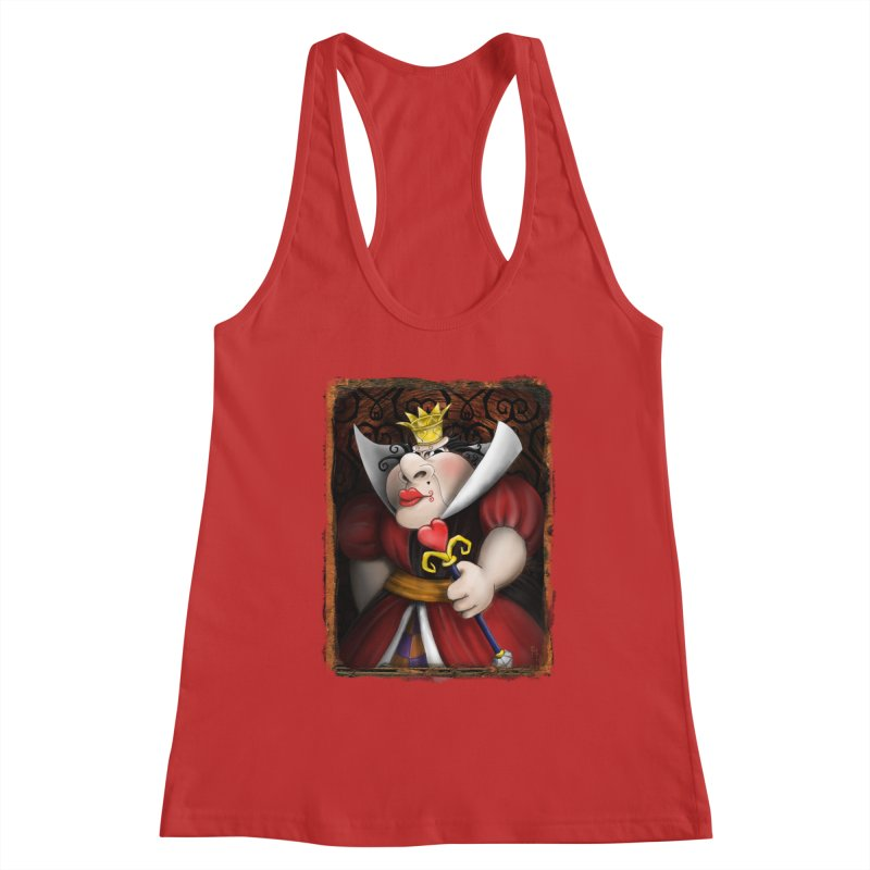 off with their heads! Women's Racerback Tank by the twisted world of godriguezart