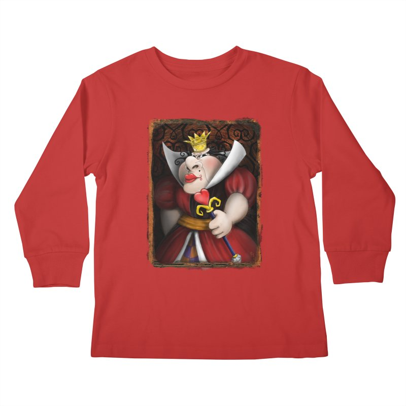 off with their heads! Kids Longsleeve T-Shirt by the twisted world of godriguezart