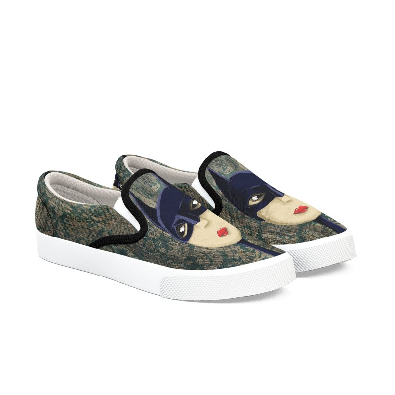 i'm batty Women's Slip-On Shoes by the twisted world of godriguezart