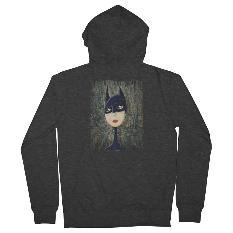 i'm batty Men's French Terry Zip-Up Hoody by the twisted world of godriguezart