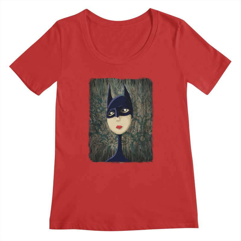 i'm batty Women's Regular Scoop Neck by the twisted world of godriguezart