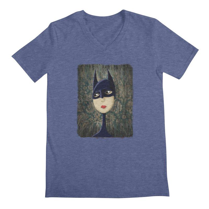 i'm batty Men's Regular V-Neck by the twisted world of godriguezart