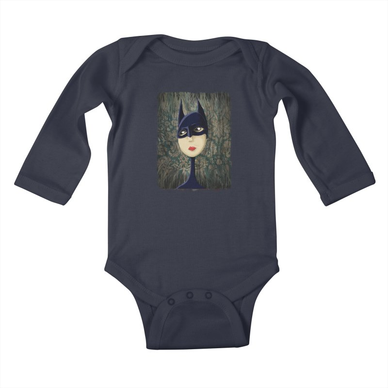 i'm batty Kids Baby Longsleeve Bodysuit by the twisted world of godriguezart
