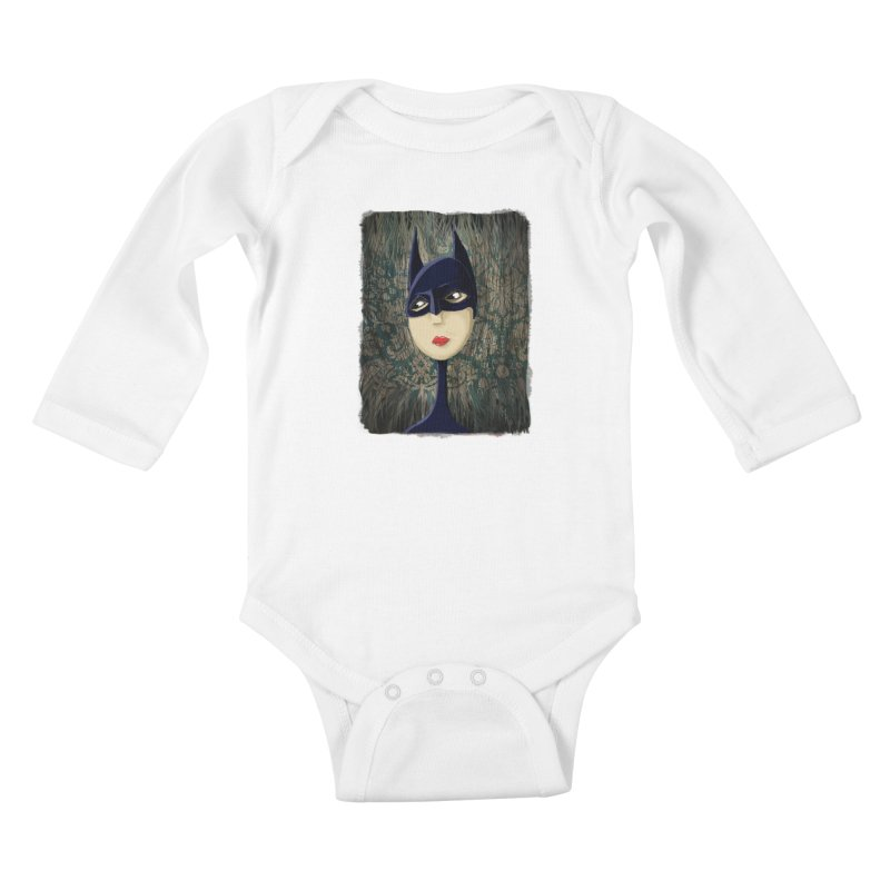 i'm batty Kids Baby Longsleeve Bodysuit by the twisted world of godriguezart