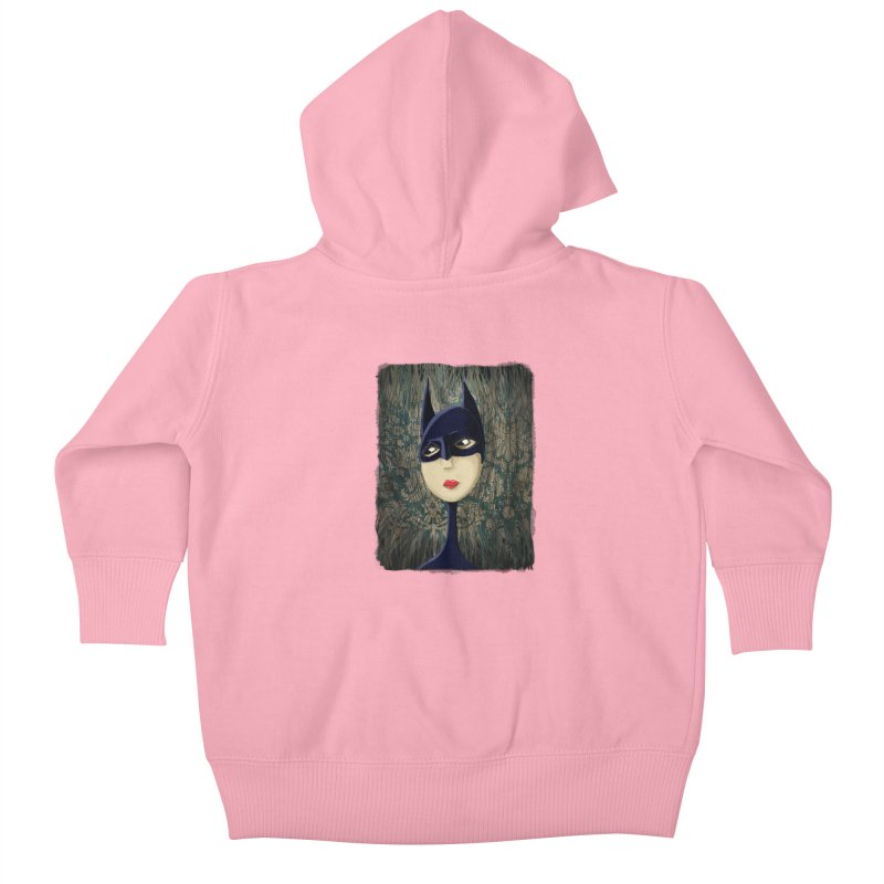 i'm batty Kids Baby Zip-Up Hoody by the twisted world of godriguezart