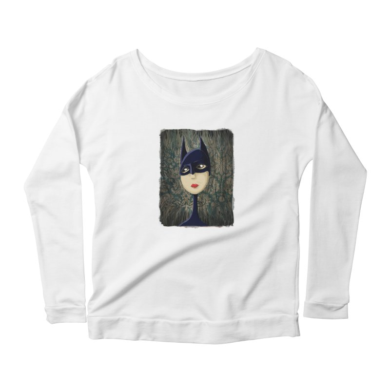 i'm batty Women's Scoop Neck Longsleeve T-Shirt by the twisted world of godriguezart