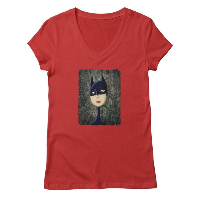 i'm batty Women's Regular V-Neck by the twisted world of godriguezart