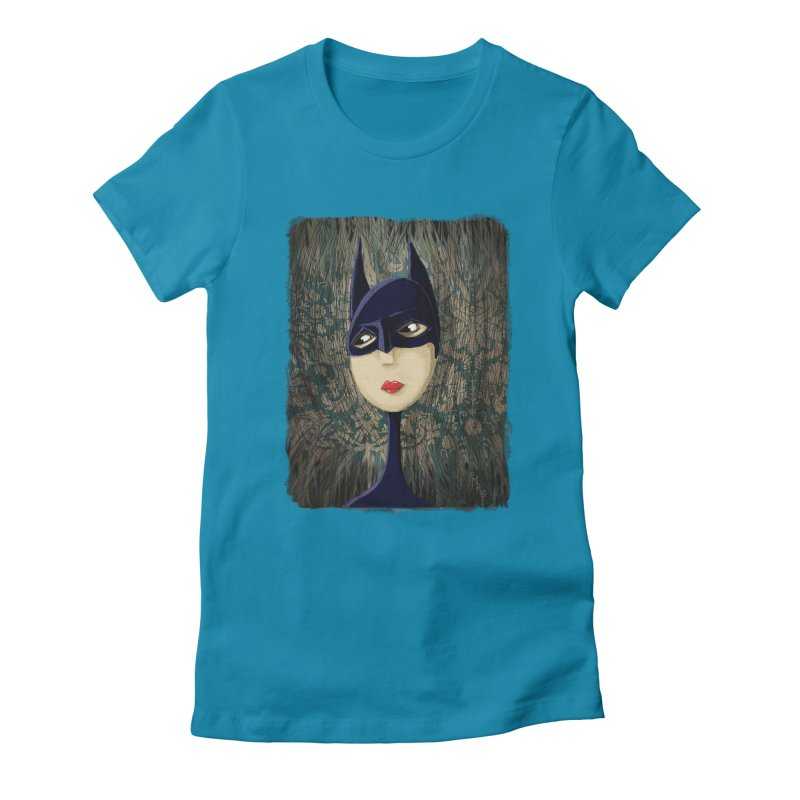 i'm batty Women's Fitted T-Shirt by the twisted world of godriguezart