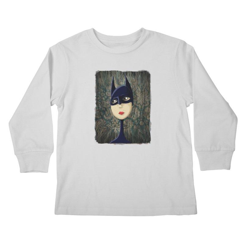 i'm batty Kids Longsleeve T-Shirt by the twisted world of godriguezart