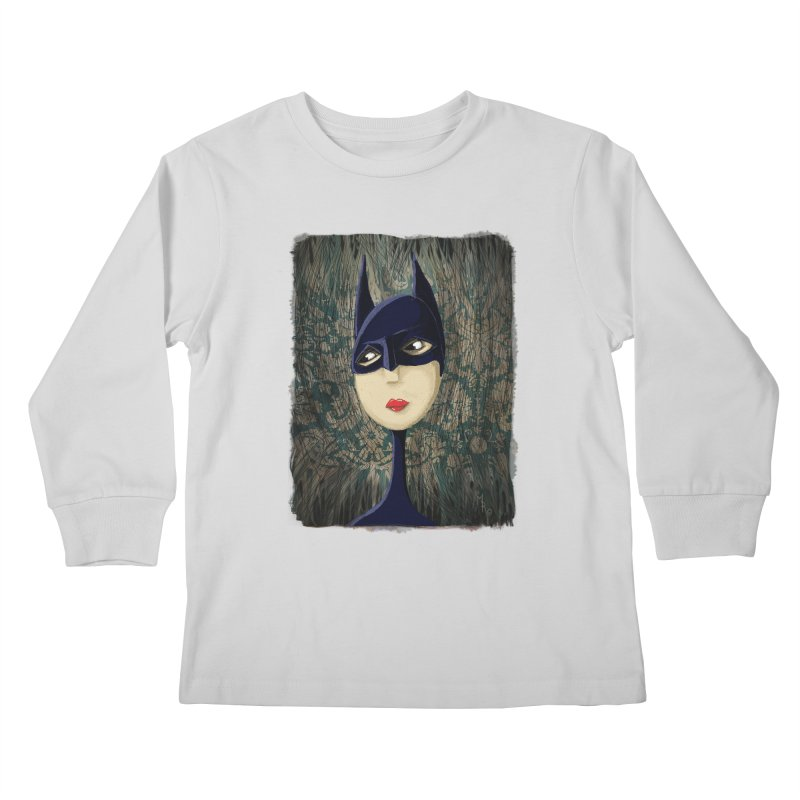 i'm batty Kids Longsleeve T-Shirt by the twisted world of godriguezart