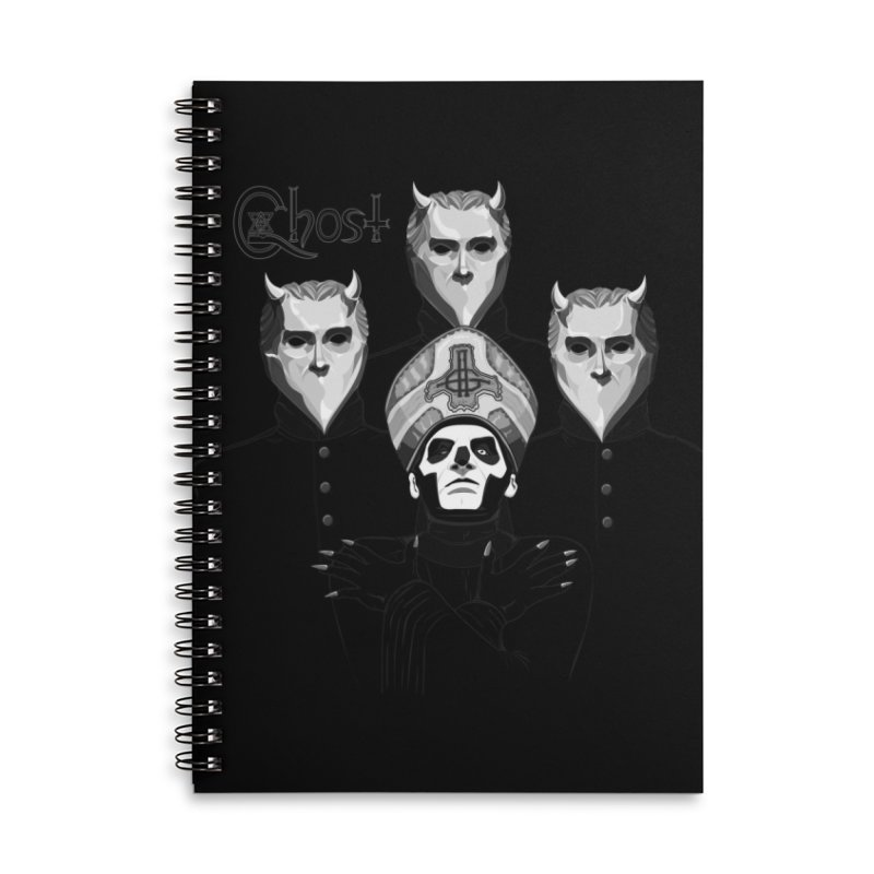 bohemian ritual Accessories Lined Spiral Notebook by the twisted world of godriguezart