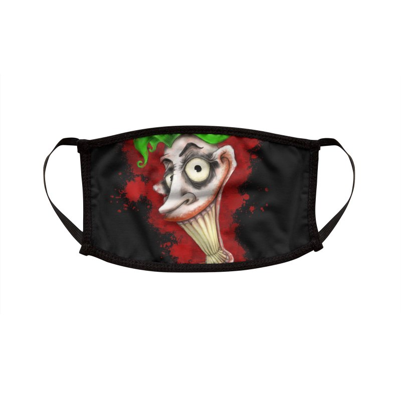 joke's on you - joker - batman Accessories Face Mask by the twisted world of godriguezart