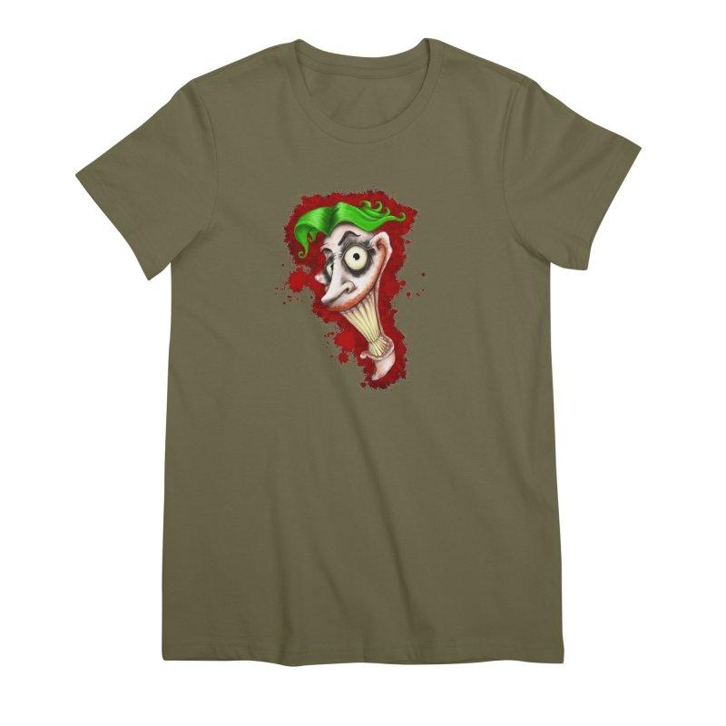 joke's on you - joker - batman Women's Premium T-Shirt by the twisted world of godriguezart